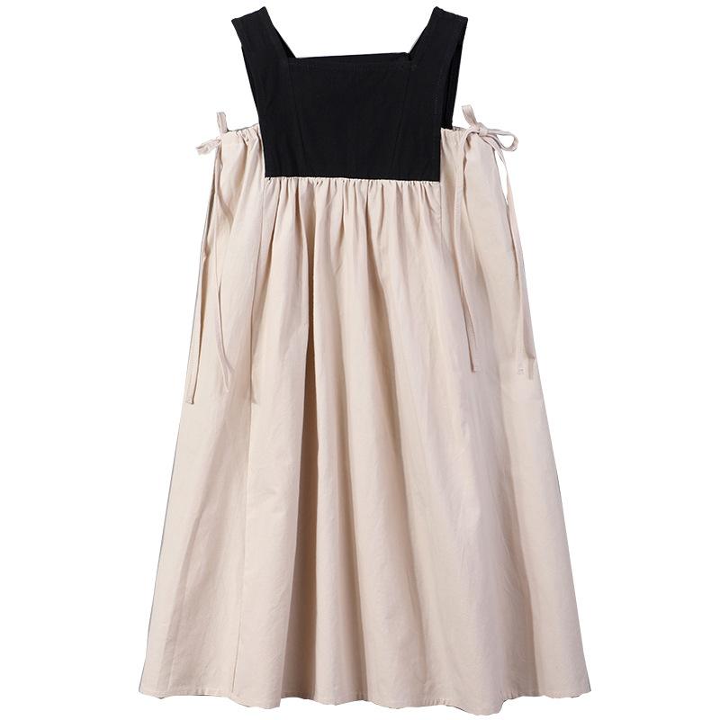 2020 Summer New Girls Dresses Bow Baby Princess Dress Two Colors Patchwork Sleeveless Kids Cotton Dresses For Children 8291 Star Kids Shop
