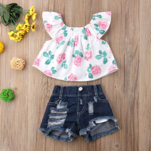 2PCS-Toddler-Kids-Baby-Girls-clothes-Flower-short-sleeve-Clothes-Outfit-T-shirt-Tops-hole-Denim-1.jpg