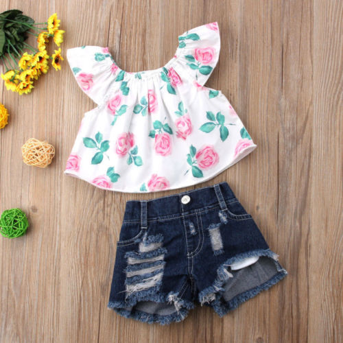 2PCS-Toddler-Kids-Baby-Girls-clothes-Flower-short-sleeve-Clothes-Outfit-T-shirt-Tops-hole-Denim-3.jpg