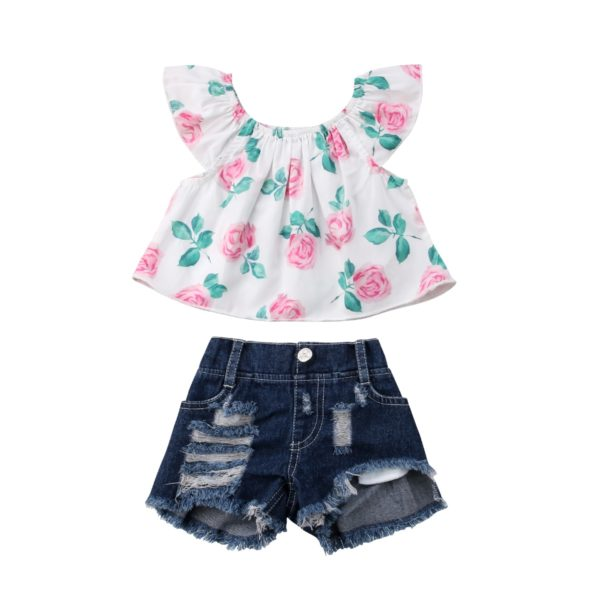 2PCS-Toddler-Kids-Baby-Girls-clothes-Flower-short-sleeve-Clothes-Outfit-T-shirt-Tops-hole-Denim-5.jpg