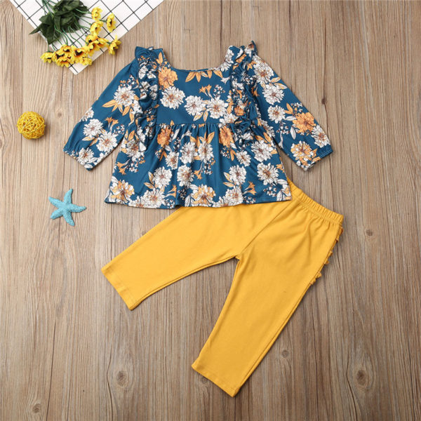 CANIS-children-s-sets-2Pcs-Kid-Baby-clothing-Girls-Clothes-Floral-printed-ruffles-Dresses-long-solid-1.jpg