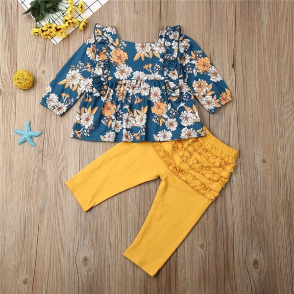 CANIS-children-s-sets-2Pcs-Kid-Baby-clothing-Girls-Clothes-Floral-printed-ruffles-Dresses-long-solid-2.jpg